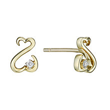 Open Hearts By Jane Seymour 9ct Yellow Gold Diamond Earrings - Product number 2161850