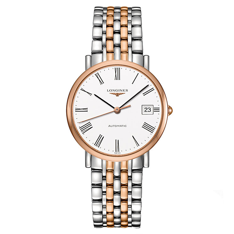 Longines Elegant men's two colour bracelet watch - Product number 2162741