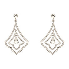 Mikey Clear Crystal Leaf Drop Earrings - Product number 2166348