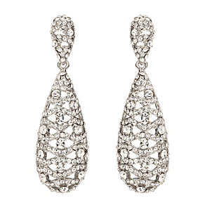 Mikey Clear Crystal Filigree Drop Earrings - Product number 2166542