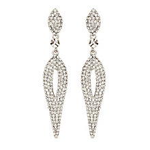 Mikey Clear Crystal Long Hanging Oval Earrings - Product number 2166658