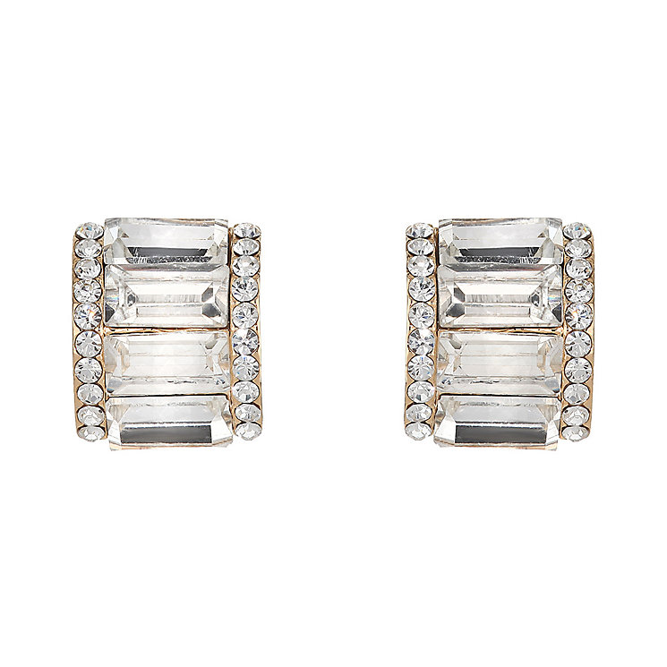 Mikey Baguette Cut Crystal Stud Earrings - Product number 2166682