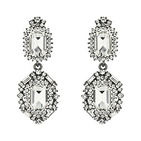 Mikey  Double Square Crystal Drop Earrings - Product number 2166755