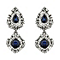 Mikey Blue & Clear Crystal Drop Earrings - Product number 2166763