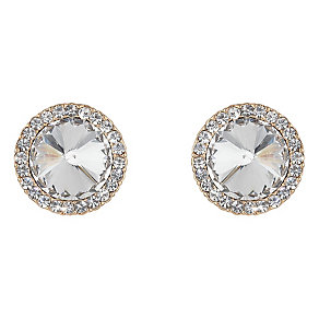 Mikey Round Large Clear Crystal Stud Earrings - Product number 2166852