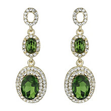 Mikey Green & Clear Oval Crystal Drop Earrings - Product number 2166941