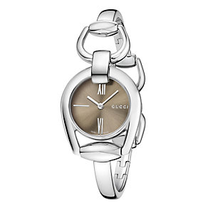 Gucci ladies' stainless steel horsebit bracelet watch - Product number 2173557