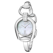 Gucci ladies' diamond set steel horsebit bracelet watch - Product number 2173581