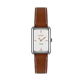 Rotary ladies' tan leather strap watch - Product number 2175002