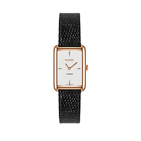 Rotary ladies' croc effect leather strap watch - Product number 2175010