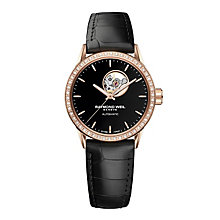 Raymond Weil ladies' black leather strap watch - Product number 2175045
