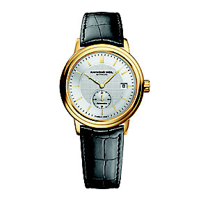 Raymond Weil men's Geneve black leather strap watch - Product number 2175126