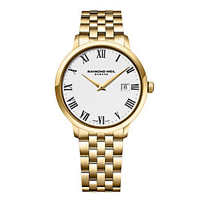 Raymond Weil Geneve men's gold plated strap watch - Product number 2175134