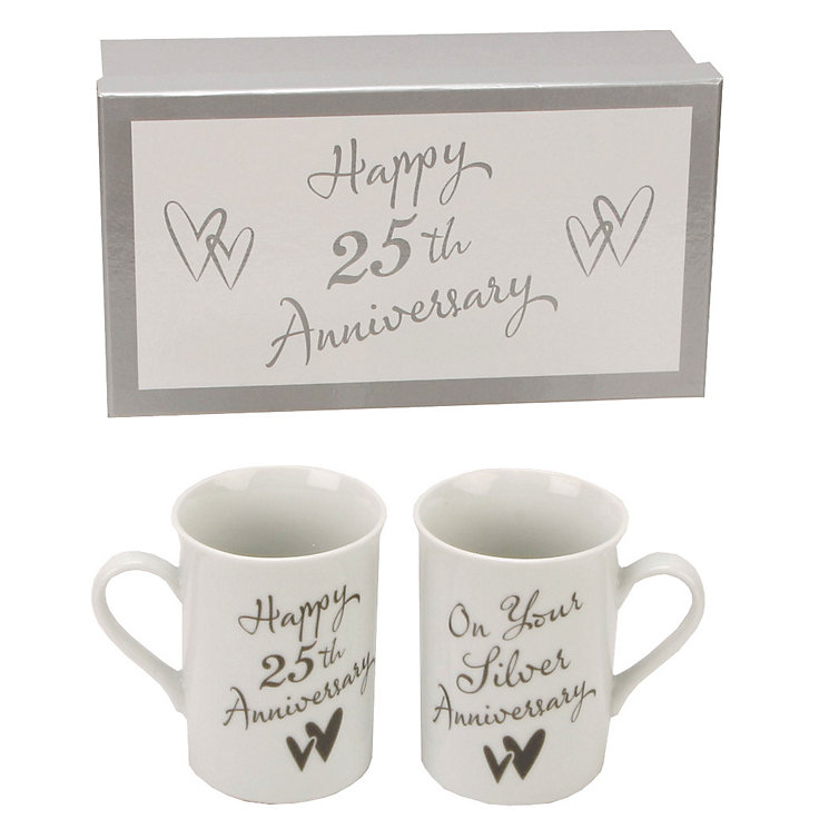 25th Silver Anniversary Mugs - Product number 2175452