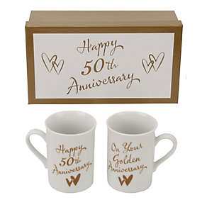 50th Golden Anniversary Mugs - Product number 2175479