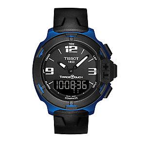 Tissot men's black rubber strap watch - Product number 2175495