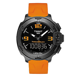 Tissot men's IP orange rubber strap watch - Product number 2175509