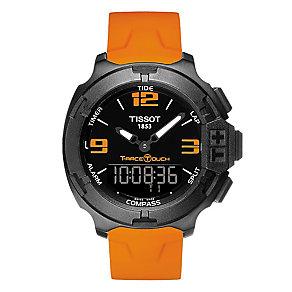 Tissot men's IP orange rubber strap watch - Product number 2175509