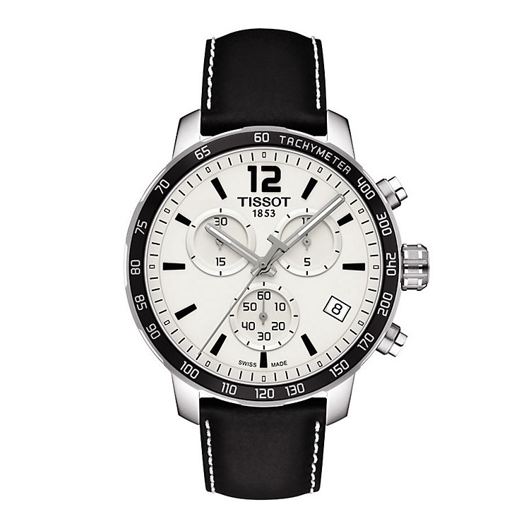 Tissot men's black leather strap watch - Product number 2175584