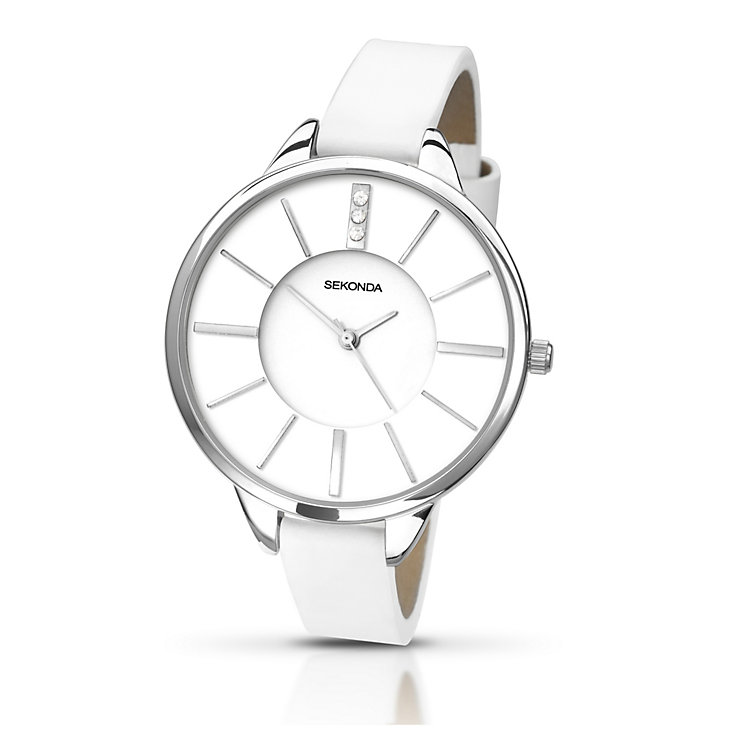 Sekonda Editions Ladies' White Dial White PU Strap Watch - Product number 2175819