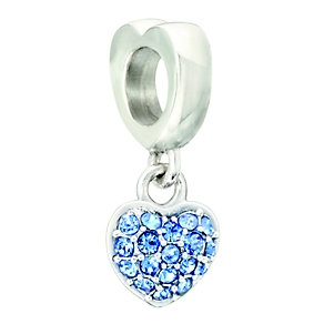 Chamilia Silver Blue Swarovski Elements Heart Bead - Product number 2177528
