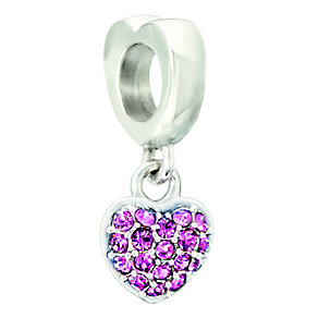 Chamilia Silver Pink Swarovski Elements Heart Bead - Product number 2177536