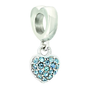 Chamilia Sterling Silver Heart Shaped Hanging Bead - Product number 2177544