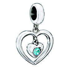 Chamilia Silver Aquamarine Swarovski Crystal Heart Bead - Product number 2177625