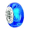 NEW! Chamilia Sterling Silver Capri Blue Murano Bead - Product number 2177676