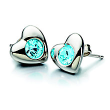Chamilia Silver Blue Swarovski Crystal Heart Earrings - Product number 2177781
