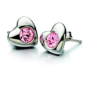 Chamilia Silver Rose Swarovski Elements Heart Earrings - Product number 2177803