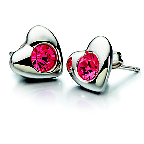 Chamilia Silver Red Siam Swarovski Elements Heart Studs - Product number 2177870