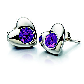 Chamilia Amethyst Swarovski Elements Silver Heart Studs - Product number 2177897