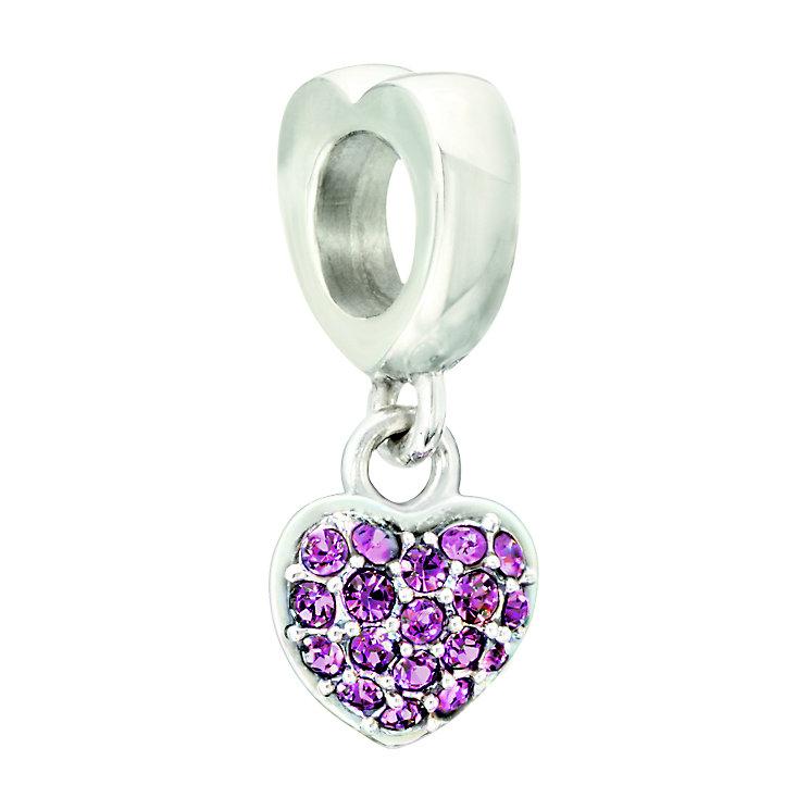 Chamilia Fuchsia Swarovski Crystal Silver Heart Bead - Product number 2177900