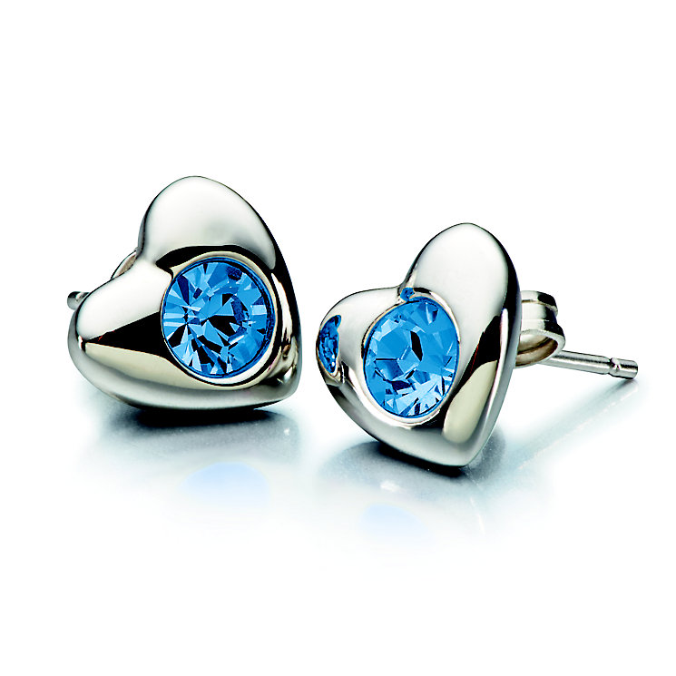 Chamilia Silver Sapphire Swarovski Crystal Heart Studs - Product number 2177927