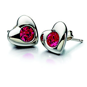 Chamilia Siam Swarovski Elements Silver Heart Earrings - Product number 2177935