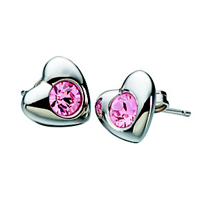 NEW! Chamilia Rose Swarovski Elements Silver Heart Earrings - Product number 2177943