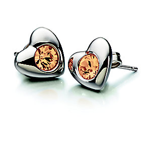 Chamilia Topaz Swarovski Elements Silver Heart Earrings - Product number 2177951