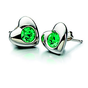 Chamilia Emerald Swarovski Elements Silver Heart Studs - Product number 2177986