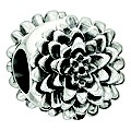 NEW! Chamilia Sterling Silver Dahlia Flower August Bead - Product number 2178044