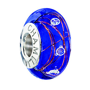 Chamilia Silver Blue Murano & Cubic Zirconia Bead - Product number 2178052