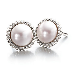 Chamilia Silver Swarovski Elements Pink Pearl Earrings - Product number 2178311