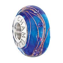 Chamilia Silver Capri Blue Murano & Cubic Zirconia Bead - Product number 2178346