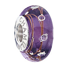Chamilia Silver Amethyst Murano & Cubic Zirconia Bead - Product number 2178354