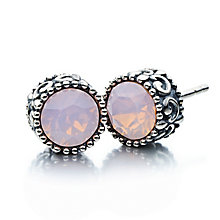 Chamilia Silver & Rose Water Opal Stud Earrings - Product number 2178370