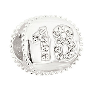 NEW! Chamilia Silver Swarovski Elements 18th Birthday Bead - Product number 2178435