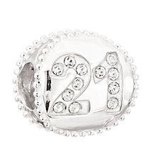 Chamilia Silver Swarovski Crystal 21st Birthday Bead - Product number 2178443