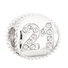 NEW! Chamilia Silver Swarovski Elements 21st Birthday Bead - Product number 2178443