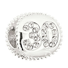 Chamilia Silver Swarovski Crystal 30th Birthday Bead - Product number 2178451