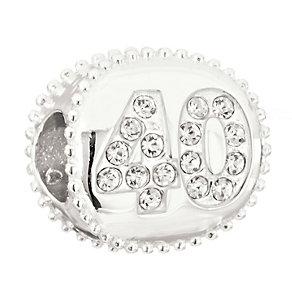 Chamilia Silver Swarovski Crystal 40th Birthday Bead - Product number 2178494